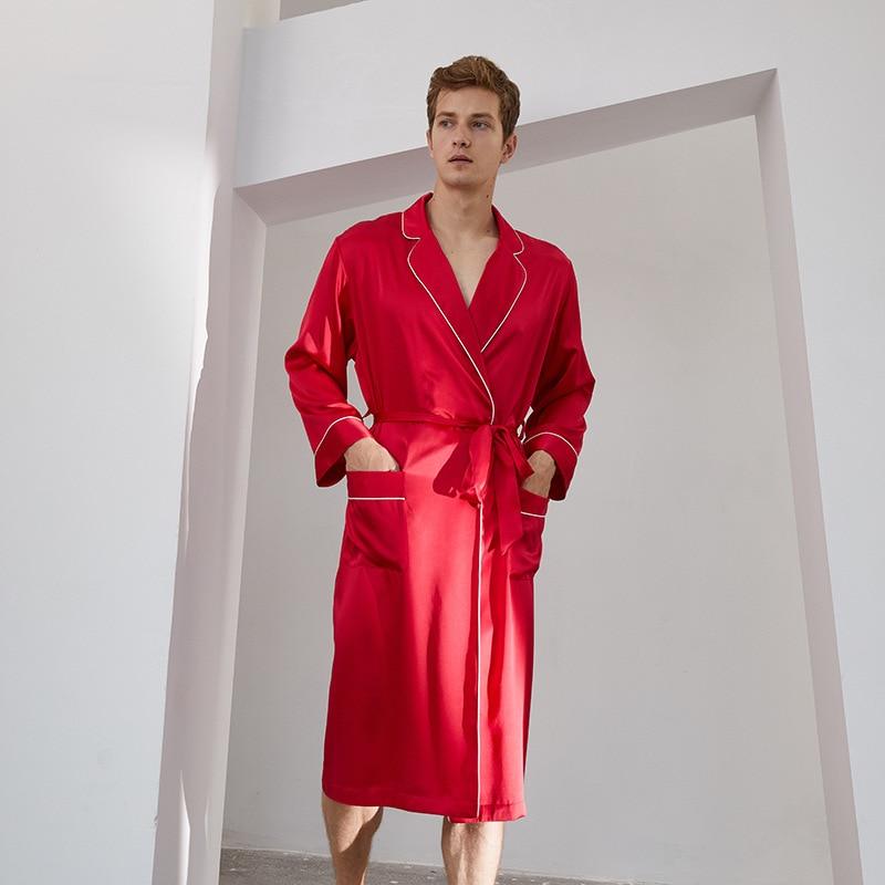 Real Silk Long Robe Men