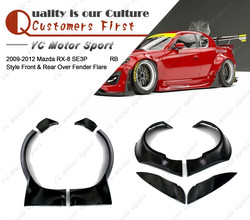 Car Accessories FRP Fiber Glass PD Style Over Fender Fit For 2009-2012 RX8 SE3P RB Front / Rear Over Fender Flares Kit