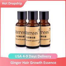 Esencja na długie rzęsy płyn szybki wzrost włosów naturalny wyciąg imbir wzrost włosów szybszy olej przeciw wypadaniu włosów odżywczy 20ml