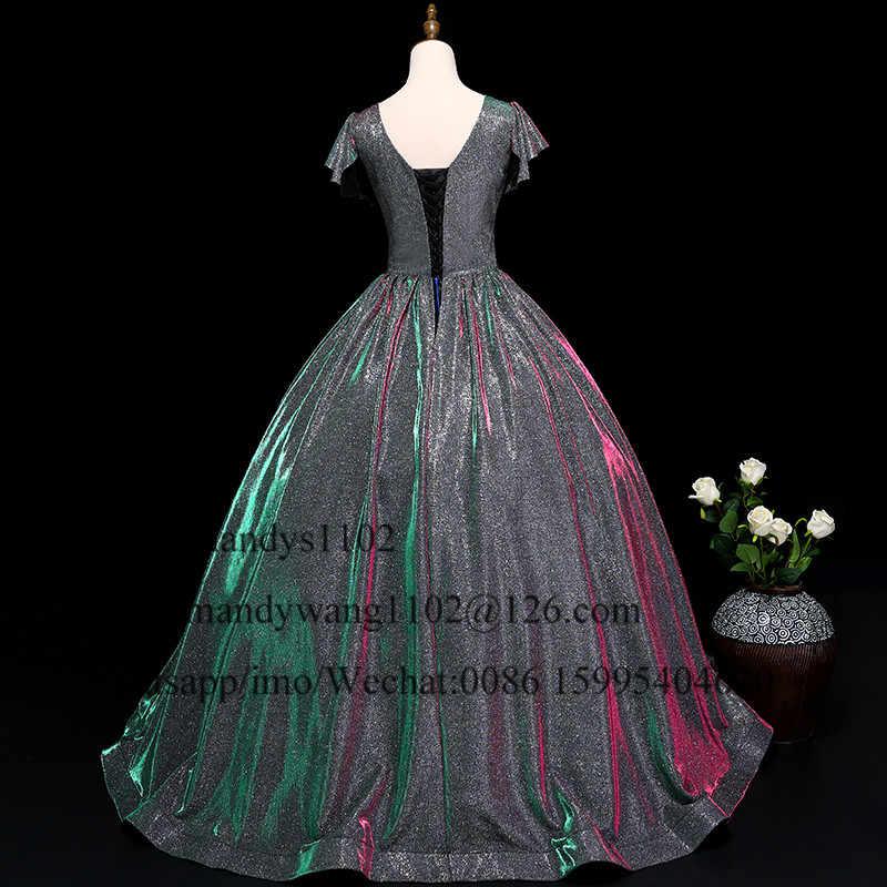 Mbcullyd Com Decote Em V vestido de Baile Vestidos de Baile 2019 Espumante Lantejoulas Pageant Formal Vestido Longo Vestido de Noite Plus Size Vestidos De Gala