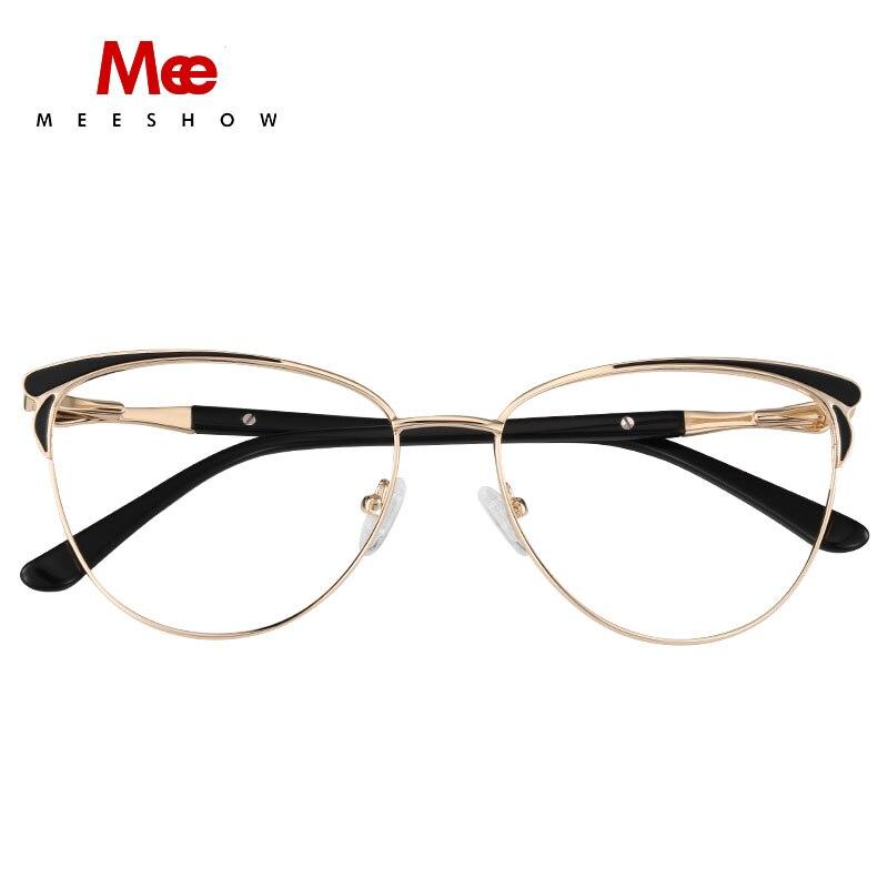 Óculos de Armação Olhos de Gato Óculos de Prescrição Mulheres Marca Meeshow Feminino Miopia Armações Claras Óculos Eyewear 2020