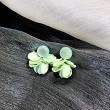 S925 Silver Needle Small Fresh Opal Petal Earrings Korea temperament Joker Female earrings for women