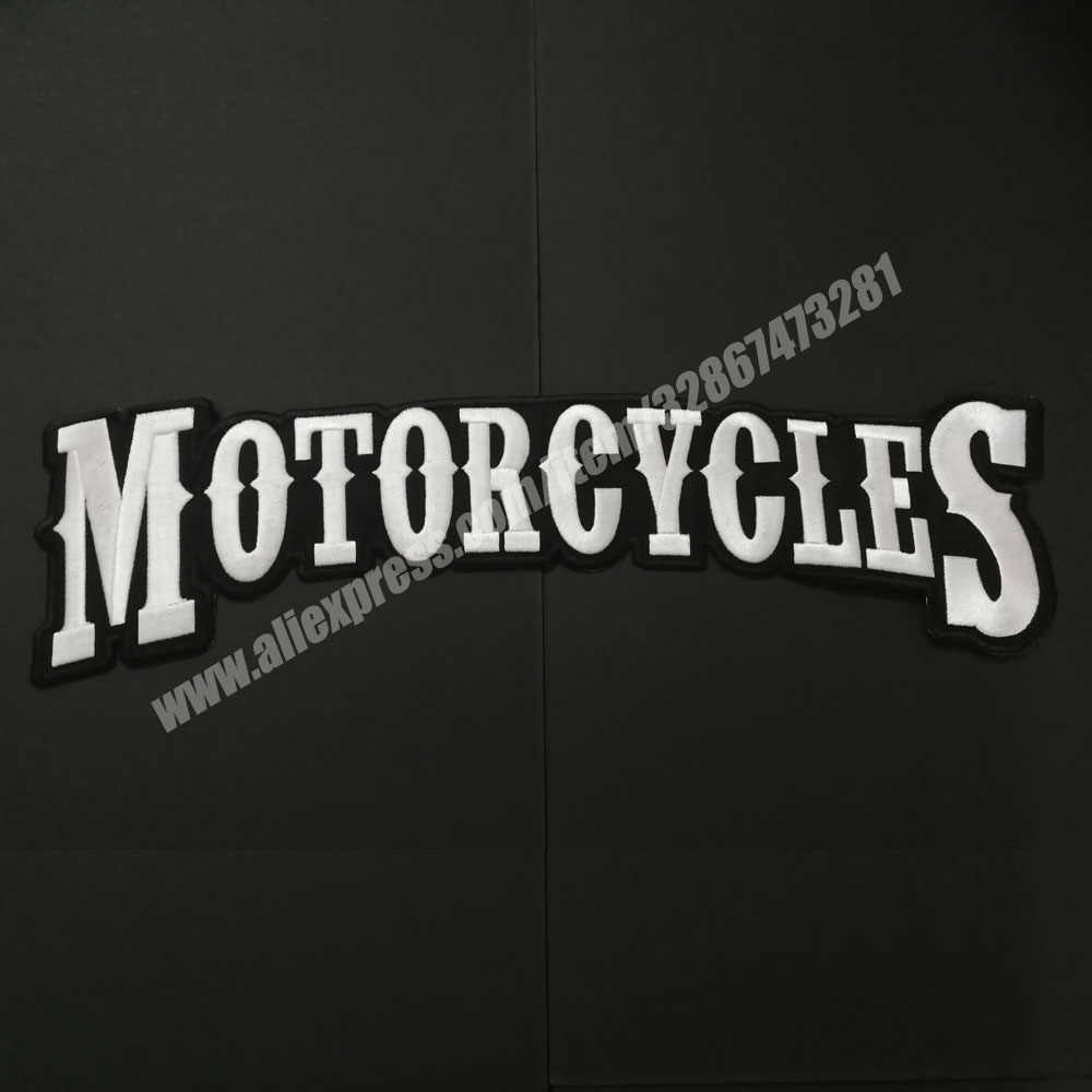 Motorcycles Patches badges Bottom Rocker Embroidery Twill Biker Iron On Clothing Patches for Jacket Motorcycle clothing stickers