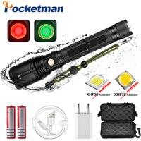 120000LM Powerful LED Flashlight XHP70.2 Rechargeable Torch XHP50 USB Zoom Lantern XHP70 Hunting Lamp Fishing Use 26650