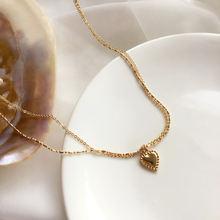 Трендовое ювелирное ожерелье с цепочкой милое дизайнерское Двухслойное