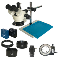 34MP HDMI digital USB Camera 3.5X 90X Simul Focal Trinocular Soldering Stereo Zoom Microscope LED Ring lights for Phone Repair