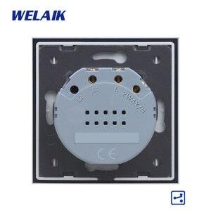 Image 5 - WELAIK ab 1gang2way merdiven dokunmatik anahtarı kristal cam Panel anahtar duvar anahtarı akıllı akıllı ışık anahtarı AC250V A1912CW