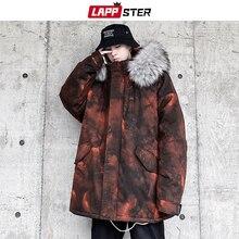 Coats Jackets Oversized Men Streetwear Parka Windbreaker Hooded LAPPSTER Mens Winter
