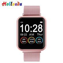 Женские водонепроницаемые Смарт-часы P70 P68 Plus Bluetooth Smartwatch для Apple IPhone Xiaomi монитор сердечного ритма фитнес-трекер