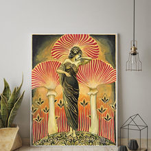 Soma déesse affiche impression toile peinture païenne mythologie mur Art Nouveau psychédélique champignon bohème photo décor à la maison