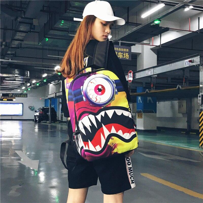 Impression créative femmes sac à dos Chic Hip Hop unisexe sac à dos sacs d'école haute capacité Handiness pliable sacs à dos Bookbag