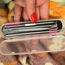 Acne Needle an chuang zhen Cells Tweezers Clip Acne Pick Pox Squeeze Acne Beauty Salon Dedicated Blackheads Tool Set Four