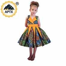 Африканские платья для девочек воск Анкары принт принцессы милое