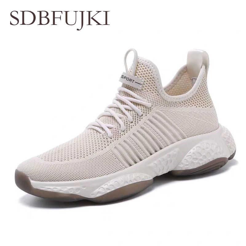 Koşu ayakkabıları erkekler nefes hafif spor ayakkabılar erkekler için bağcıksız ayakkabı erkekler rahat ayakkabılar erkekler Sneakers erkek ayakkabısı erkek 2019
