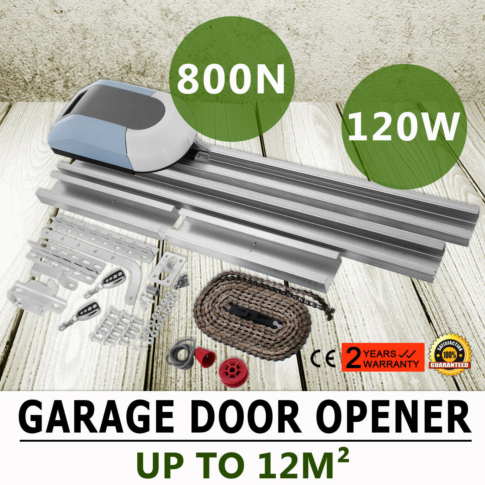 Garage Door Opener Garage Engine Automatic Operator Force 800N Advanced Technology 2 Remote Control