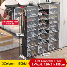 Multilayer pp Resin Shoe Cabinets Modular Shoes Storage Orga