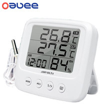 LCD Digital Temperature Humidity Meter Backlight Home Indoor Electronic Hygrometer Thermometer Weather Station Baby Room