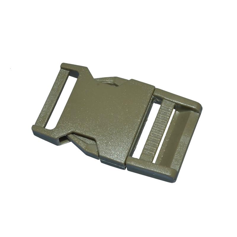 2 шт 25 мм Красочные пряжки ABS застежки для Паракорда браслет рюкзаки одежда сумки запчасти - Цвет: Aemy Green