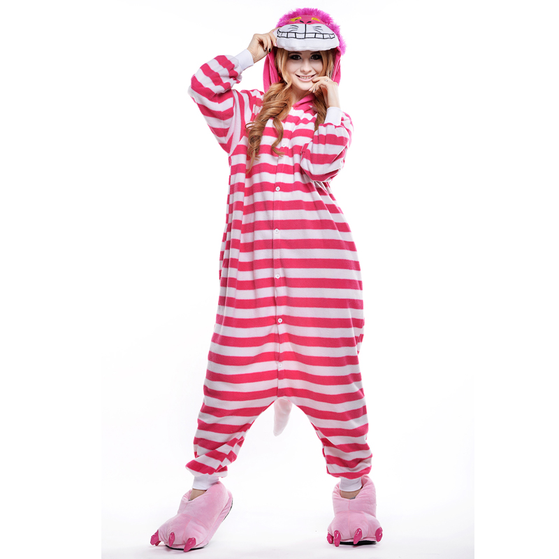 Cheshire Cat Unisex Adult Pajamas Cosplay Onesies Cartoon Adult Onesie Animal Sleepwear Pyjamas Christmas Halloween Costume