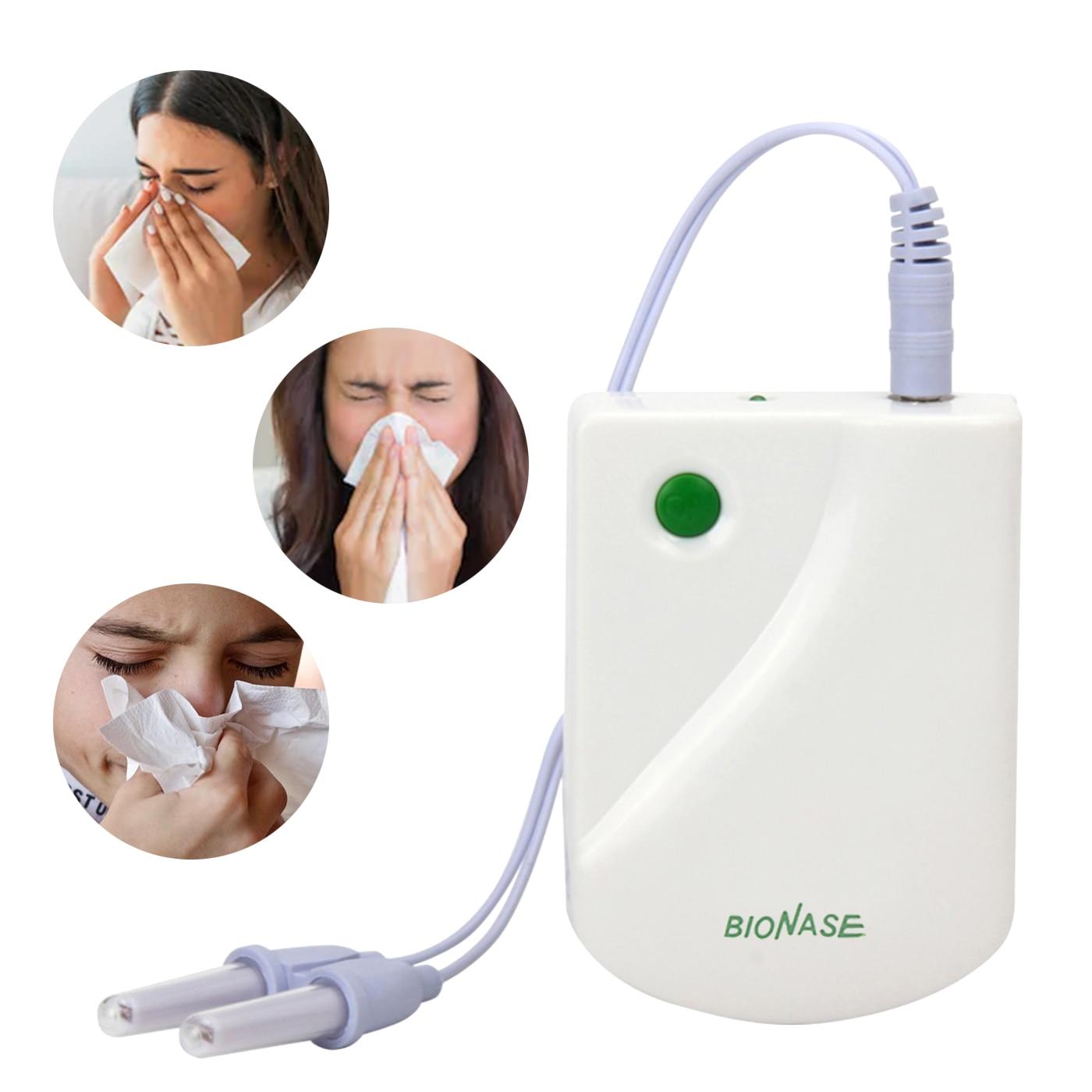 الأنف تدليك الأنف Bionase الأنف الأنف الأنف جهاز علاج سلك الليزر القش حمى منخفضة التردد نبض الليزر الأنف مدلك