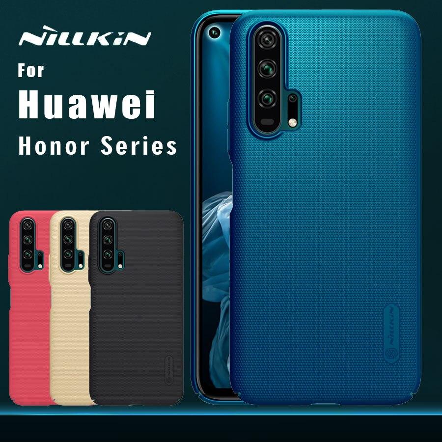 Nillkin para huawei honor 20 pro caso fosco escudo pc capa traseira para honra 9x 9x pro 20 10 9 lite 8x max 7x 7c 6a nilkin caso