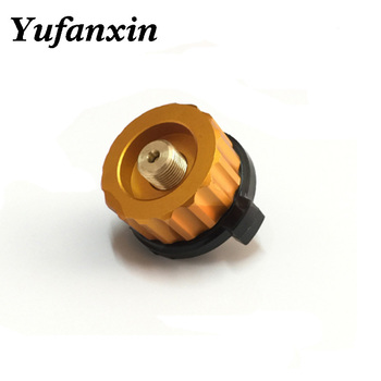 Outdoor Camping Hiking Stove Burner Adaptor Split Type Furnace Converter Connector Auto-off Gas Cartridge Tank cylinder Adapter outdoor furnace head converter split gas connector long tank propane refill adapter butane switch tool