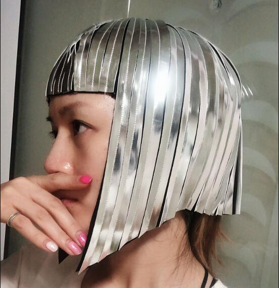 Space Warrior Reflective Wig Metal Wig Light Dance