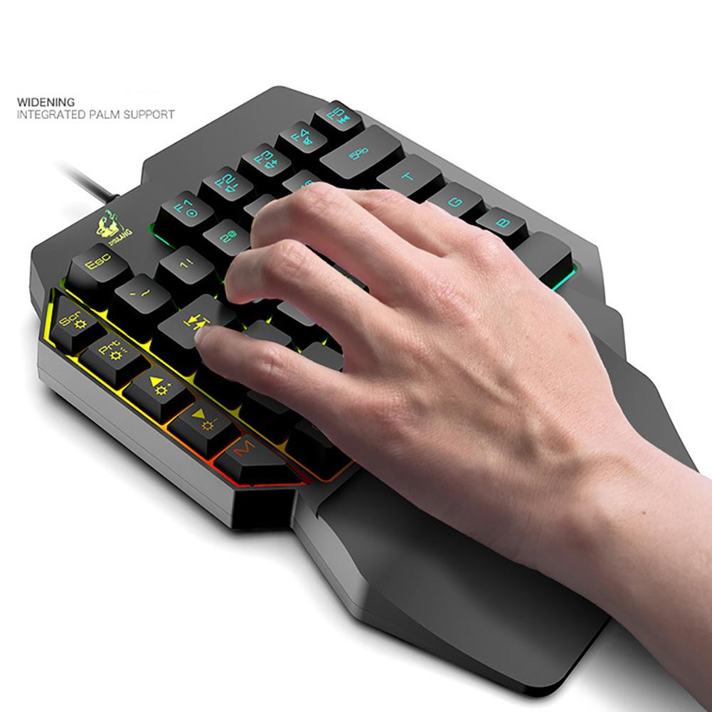 K15 Ergonomic Colorful RGB Backlit Robotic Single Hand Gaming Keyboard For PUBG