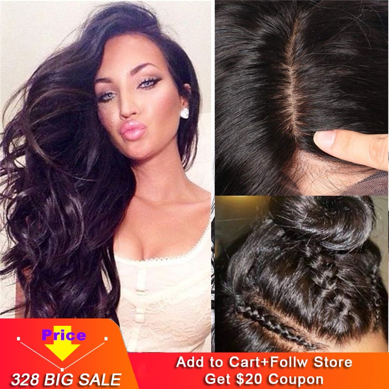 Silk Base Full Lace Wigs Pre Plucked 100% Brazilian Human Hair Deep Body Wave Silk Top Full Lace Wig With Baby Hair For Women