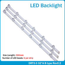 "3x LED Backlight for LG innotek Drt 3.0 32""_A/B 6916l-1974A 1975A 32MB25VQ lv320DUE 32LF5800 SUNG WEI 55VO E74739 59cm 6 Lamps(China)"