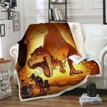 Kids Children Dinosaur Fluffy Cotton warm Blanket Jurassic Cartoon Boys Girl throw blankets for beds Home textile Bedding Outlet