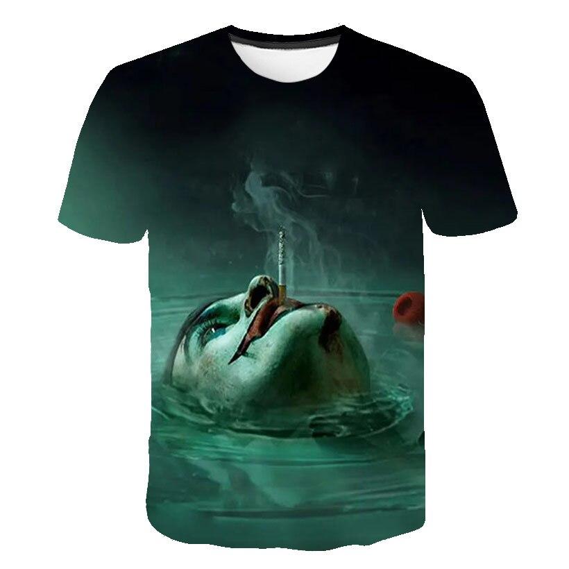 2019 New Hot Sale Clown T Shirt Men/women Joker Face 3D Printed Terror Fashion Male T-shirts Tee