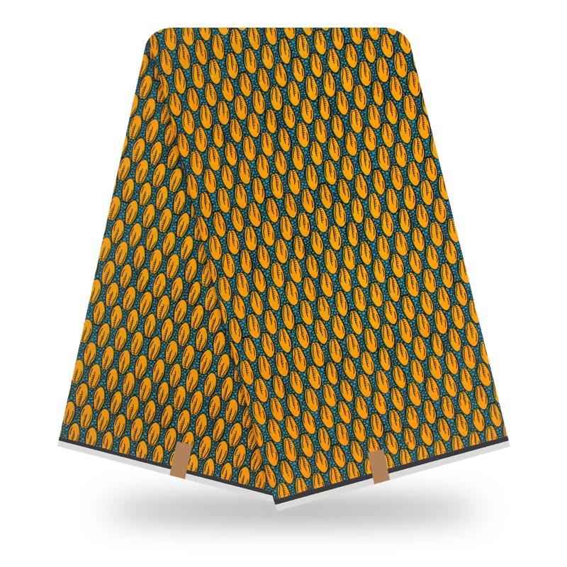 Ankara African Wax Prints Fabric 100% Cotton Tissus Wax Real Wax Fabric For Women Dress