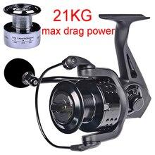 Fishing-Reel Spool Carp Full-Metal-Handle Max Spinning 21KG Drag-Power