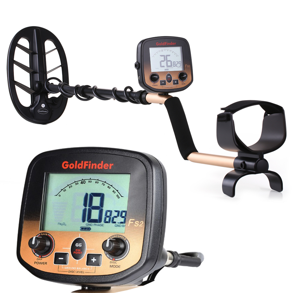 FS2 LCD Display Metal Detector Underground Gold Scanner Treasure Hunter Pinpointer two search coils optional|Industrial Metal Detectors| - AliExpress