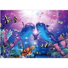 Dolphin 5D DIY Diamond Painting Embroidery Rhinestones Full Square Round Drill Cross Stitch Mosaic Animal Home Decor Handicrafts