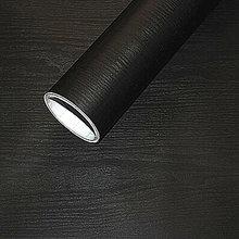 Papier peint autocollant noir en vinyle épais avec grain de bois