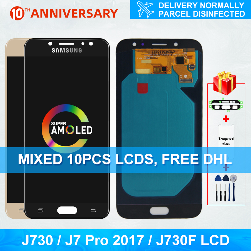 Super Amoled J730FN/DS For <font><b>Samsung</b></font> <font><b>Galaxy</b></font> <font><b>J7</b></font> Pro <font><b>2017</b></font> J730 J730F LCD <font><b>Display</b></font> and Touch Screen Digitizer Replacement Parts image