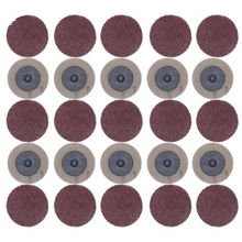 100Pcs Sanding Disc for Roloc 50Mm 40 60 80 120 Grit Sander Paper Disk Grinding Wheel Abrasive Rotary Tools Accessories
