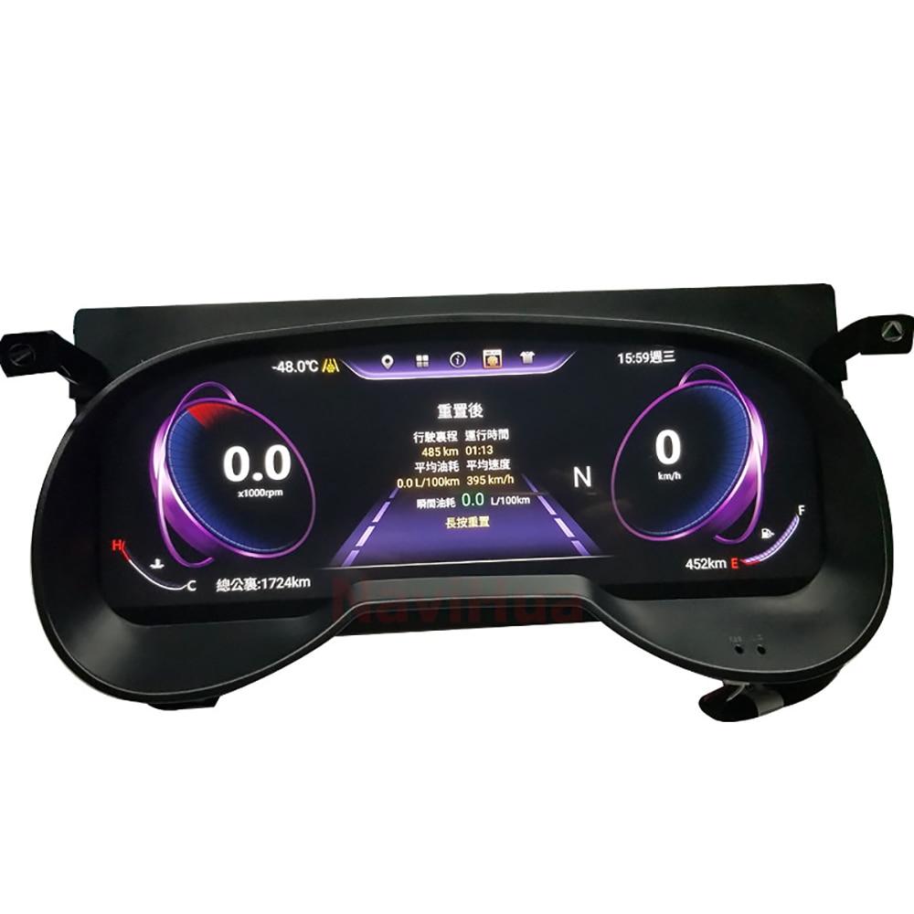 12,3 дюйма, Android 7,1, автомобильный ЖК инструмент, кластер, цифровые спидометры, приборная панель для Toyota RAV4|Мультимедиаплеер для авто|   | АлиЭкспресс