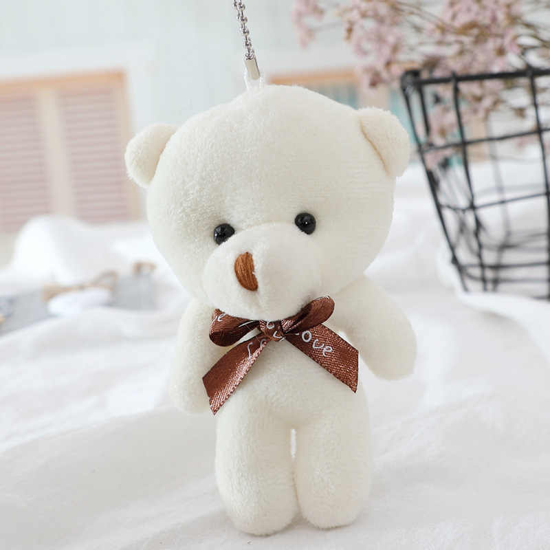 1PC Mini Bear Toys Plush Doll Conjoined Pendant PP Cotton Soft Stuffed Naked Bears Toy Bouquet Doll Holiday Gift Bag Hanging