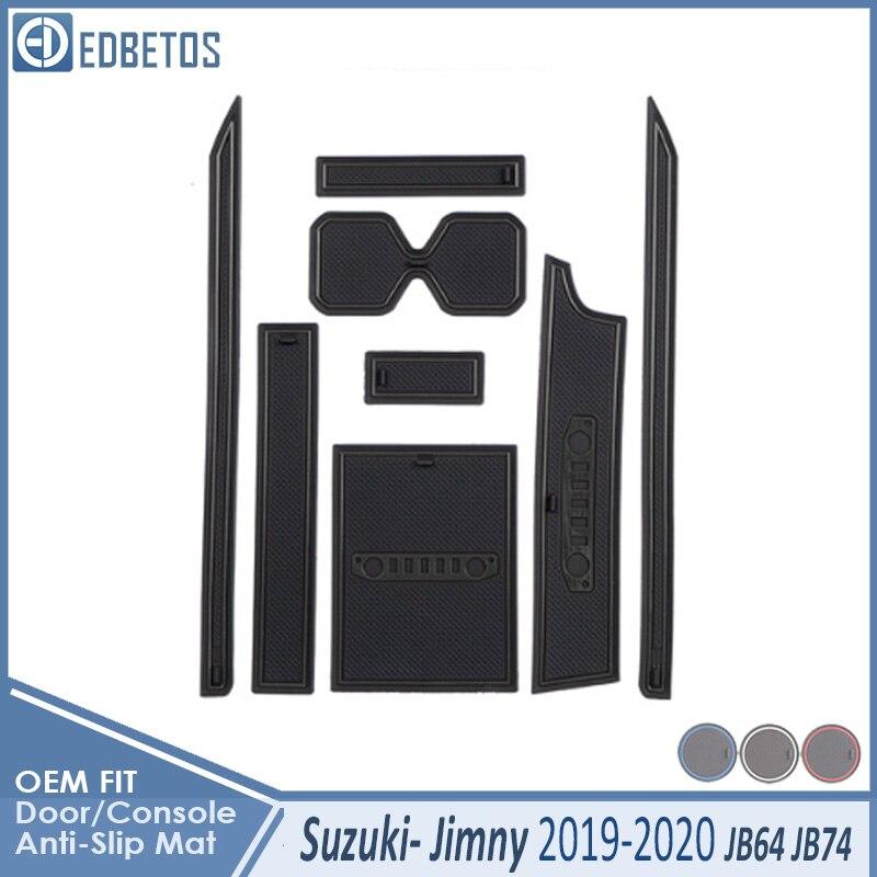 Door Groove Mat For Suzuki Jimny 2019 2020 JB64 JB74 Jimny Sierra Accessories Anti Slip Mat Gate Slot Coaster Car Interiors Gel|  - title=