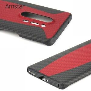 Image 4 - Amstar المزدوج اللون حقيقية ألياف الكربون واقية الحال بالنسبة OnePlus 8 برو جديد رقيقة جدا مكافحة سقوط حقيقي ألياف الكربون غطاء حالات