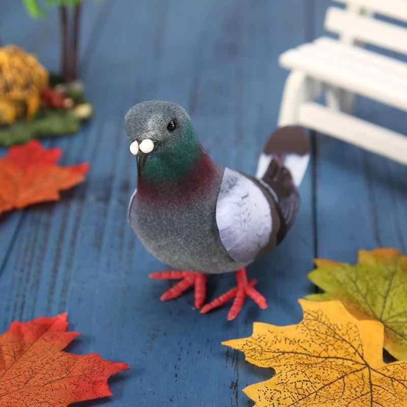 1pcs סימולציה קצף אפור יונה דגם מזויף מלאכותי חיקוי ציפור גן קישוט אבזרי צילום בחיים יצירתיים