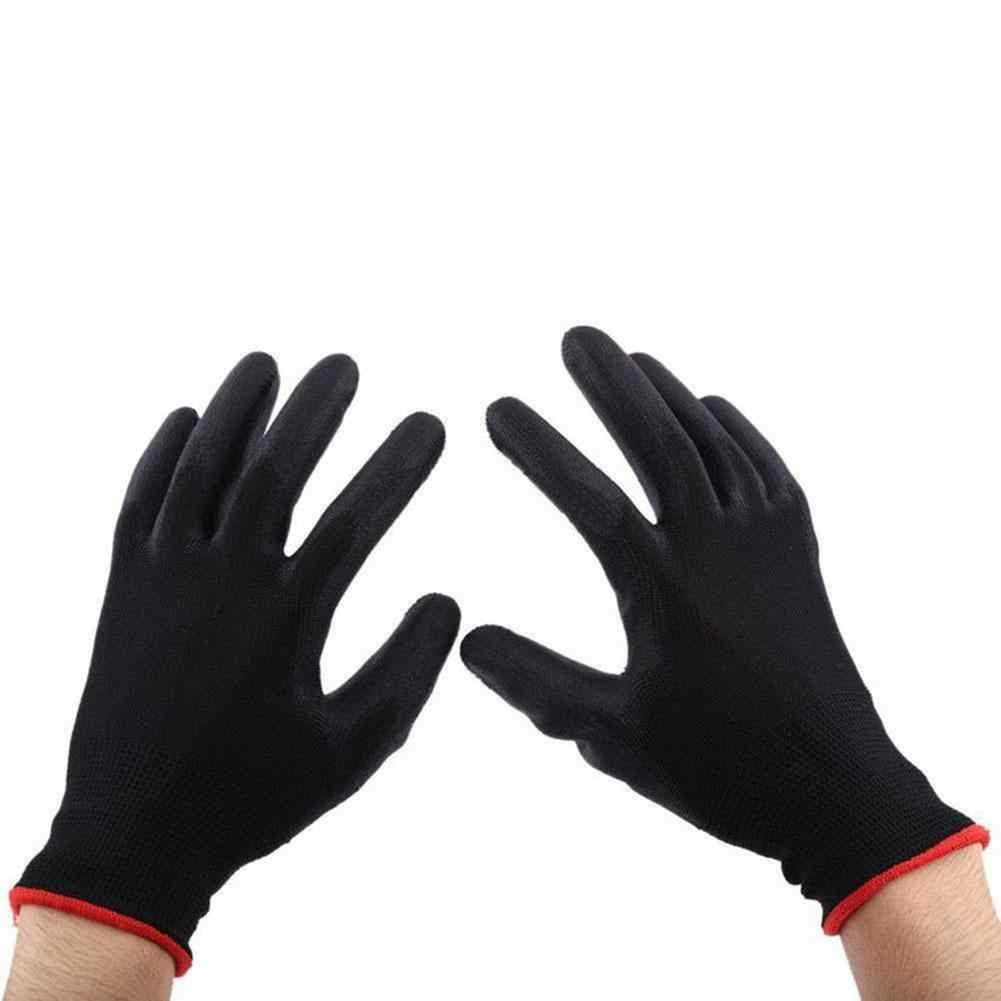1 coppia di Nylon Anti-Statica Non-Antiscivolo Protezione Delle Dita di Fabbrica di Sicurezza Guanti Da Lavoro