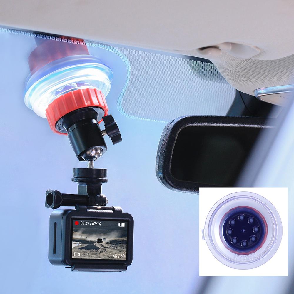 Ulanzi U-50 Action Camera Suction Holder Mount for Dji Osmo Action Gopro Eken Sucker Holder Car Holder Mount Glass Suction Cup (White Color)