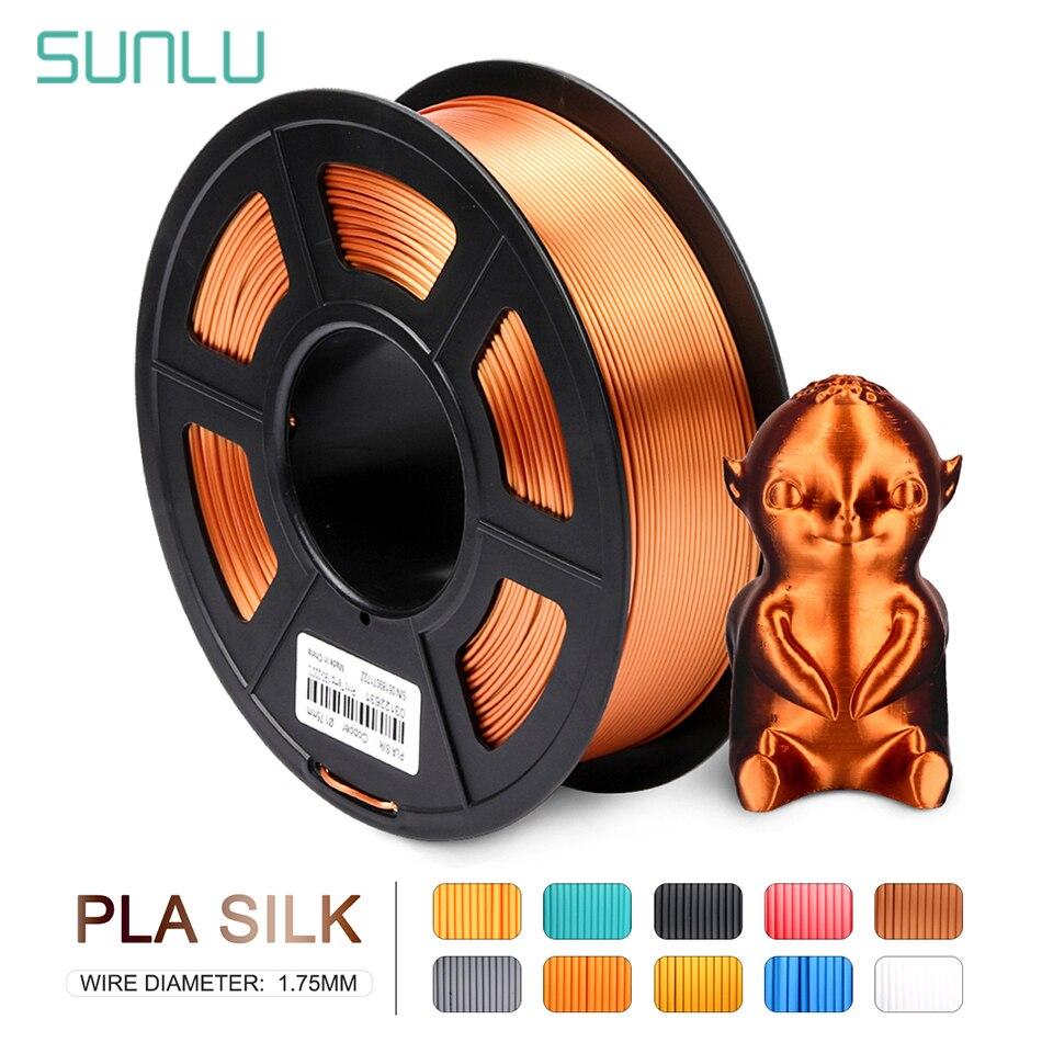 SUNLU Plastic PLA Silk Filament For 3d Printer 1.75MM No Tangle   Winding Silk PLA Filament 1kg