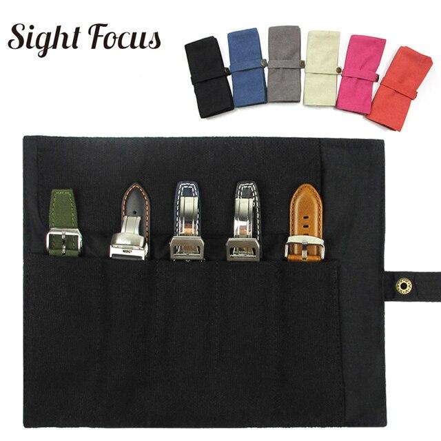 Organizador de pulseira para relógio, bolsa portátil para armazenamento de pulseira garmin, samsung, apple suunto, quartzo e alça mecânica, estojo para viagem