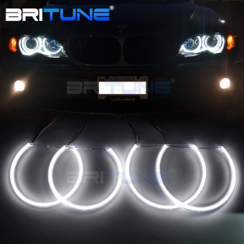 LED Angel Eyes For BMW 3 5 7 Series E46 E39 E38 E36 Xenon Halogen Headlight COB Halo Rings Kit Car Accessories Retrofit Style image
