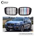 Einzelnen Lamellen Front Niere Grill Für BMW X3 G01 X4 G02 ABS Gloss Schwarz Racing Grills 2018 +-in Rennauto-Kühlergrill aus Kraftfahrzeuge und Motorräder bei